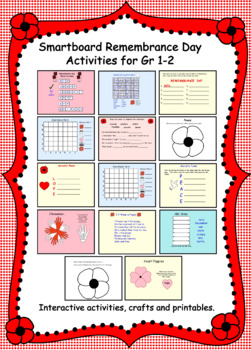 Interactive Smartboard Activities for Remembrance Day