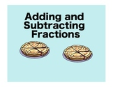 Interactive Smartboard Intro to Adding and Subtracting Fractions for Gr. 3 - 5