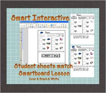 Interactive Smartboard -ap Word Family Lesson