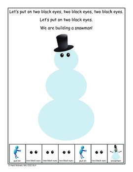 Interactive Snowman Building Song and Activities