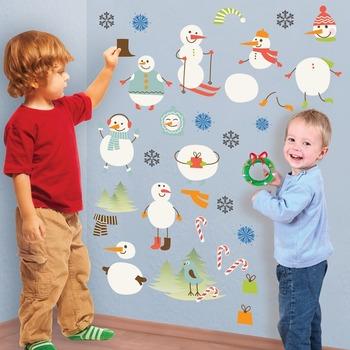 Interactive Snowman Wall Play Set