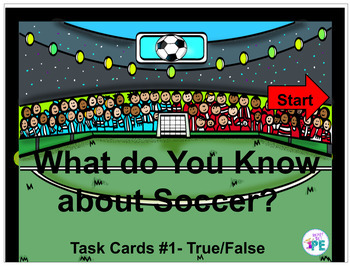 Interactive Soccer Task Cards #1 - What do you Know About Soccer for Google