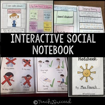Interactive Social Skills Notebook for Special Education {Growing Bundle}