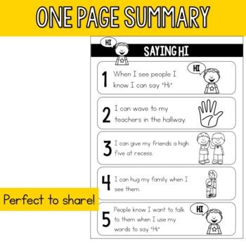 Interactive Social Story - Saying Hi