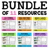 Social Studies Sort Activities Bundle
