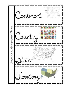 Interactive Social Studies Notebook- Geography