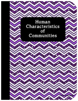 Interactive Social Studies Notebook Human Characteristics of Communities