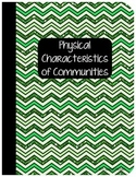 Interactive Social Studies Notebook Physical Characteristics of Communities