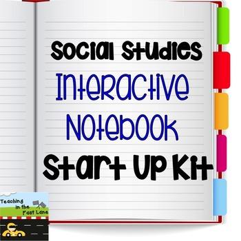 Interactive Social Studies Notebook Start Up Kit