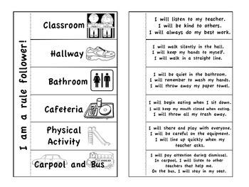 Interactive Social Studies School Rules booklet
