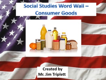 Interactive Social Studies Word Wall Vocabulary Cards - Consumer Goods