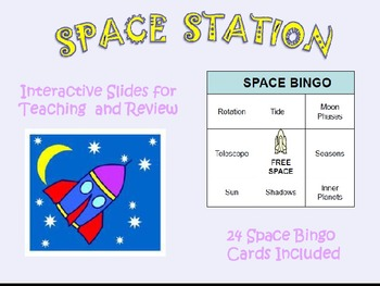 Interactive Solar System Game with Riddles, Visuals, and Bingo Cards