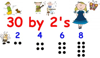 Interactive Song - 30 by 2's - Interactive Music - Counting by 2's