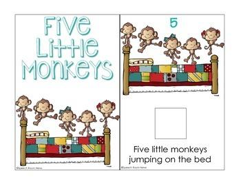 Interactive Song Book: 5 Little Monkeys