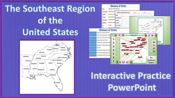 Interactive Southeast Region Powerpoint and Printables