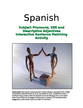 Interactive Spanish Activity: Sentences with SER and Descr