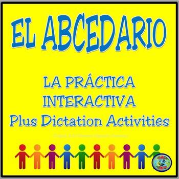 Interactive Spanish Alphabet Practice Plus Dictation Activities