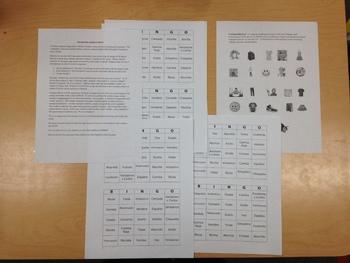 Interactive Spanish BINGO Game