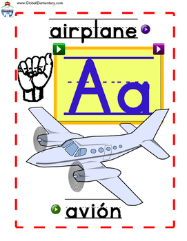 Interactive Spanish, English, and ASL Alphabet Cards with