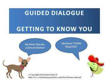 Interactive Spanish Guided Dialogue - Greetings