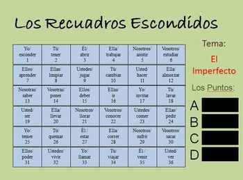 Interactive Spanish Imperfect Activity (Powerpoint)