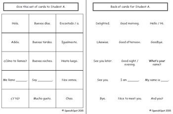 Interactive Spanish Notebook- Saludos, Despedidas, & Introducciones