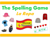 Interactive Spanish PPT - Clothing Spelling Game