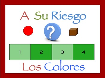 Spanish Colors Interactive Activity, Powerpoint Game