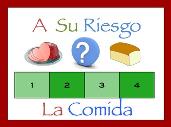 Spanish Food and Drinks Interactive Activity, Powerpoint Game