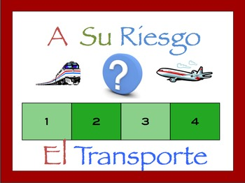 Spanish Transportation Interactive Activity, Powerpoint Game
