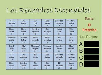 Interactive Spanish Regular Preterite Activity (Powerpoint)
