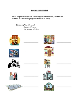 Interactive Spanish Speaking Activity with City Locations