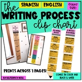 Spanish Writing Process CLIP CHART - Helps Track Writing!