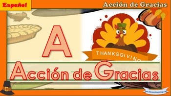Interactive Spanish literacy activities - Thanksgiving