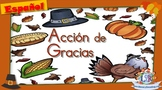 Thanksgiving - Acción de Gracias - Interactive Spanish lit