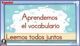 Interactive Spanish literacy activities - Winter