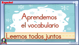 Interactive Spanish literacy activities - Winter