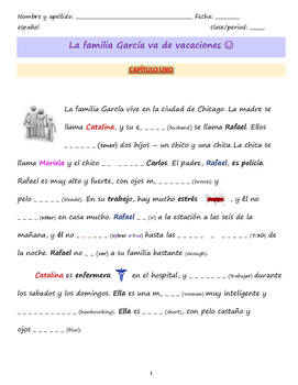 Interactive Spanish reading: Vamos de viaje (Avancemos 2 U1L1)