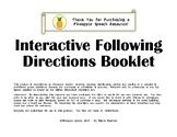 Interactive Speech Following Directions Book