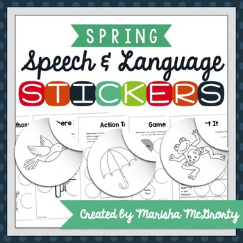 Interactive Speech & Language Stickers {Spring}