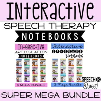 Interactive Speech Therapy Notebooks: Super Mega Bundle!