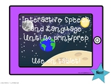 Interactive Speech and Language space Unit: No print No Prep!