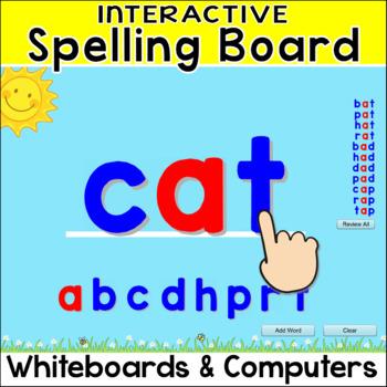 Interactive Spelling Board for SMARTboard, Promethean, Mim