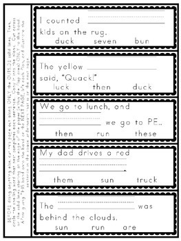 Interactive Spelling Curriculum and Working with Words, List 15