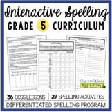 Interactive Spelling Grade 5 Year-Long Curriculum