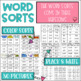 Word Study Spelling Word Sorts 1st grade
