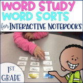 Word Study Spelling Word Sorts 1st grade Phonics Distance