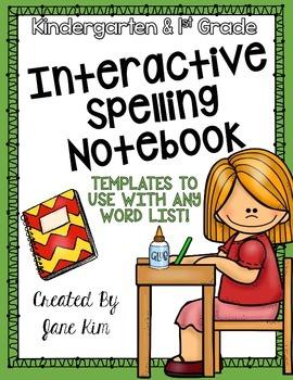 Interactive Spelling Notebook: Kindergarten and First Grade