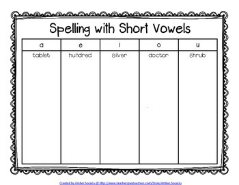Interactive Spelling Notebook for Spelling Mini-Lessons