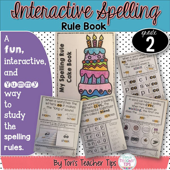 Interactive Spelling Rule Book for the Year~ Second Grade